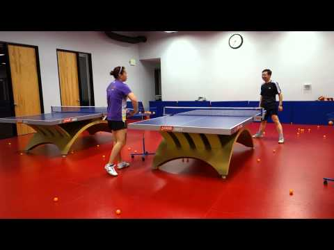 Training with Coach Yi: Looping against half-long serves