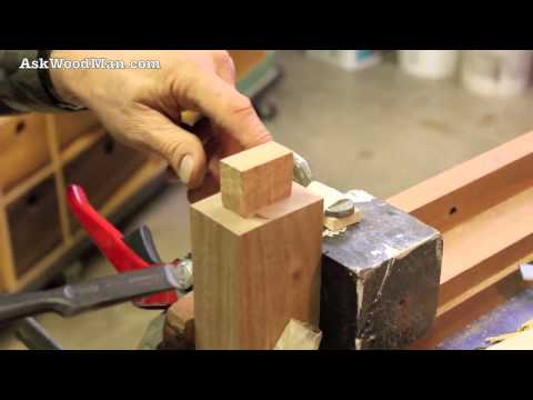 Tenon Cutting Demo Using Japanese Hand Saws - Part 3 of 4