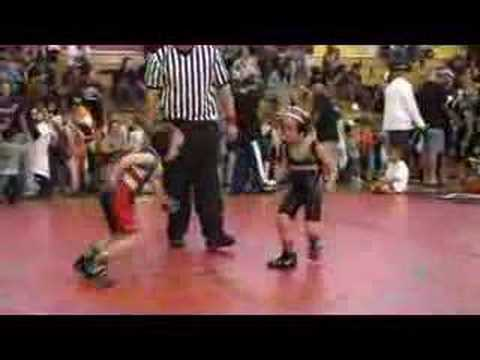 Levi age 5 gets the fastest wrestling takedown ever ... 45# Tot division at Lubbock Texas Sandpitt tournament 11/10/07.