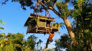 Building suspension house on the tree ( Ancient skill )