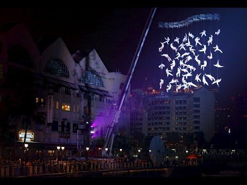 Human net opens Singapore's River Festival