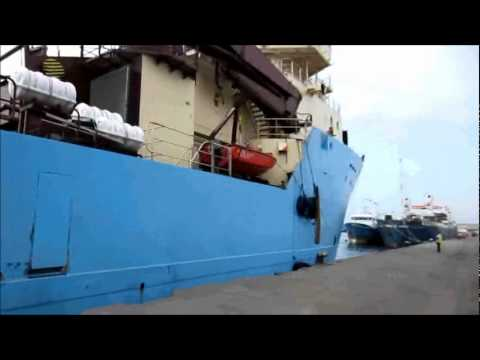 Maersk Beater in Pointe Noire, Congo
