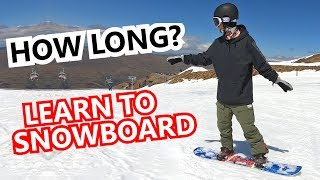 How Long To Learn To Snowboard?