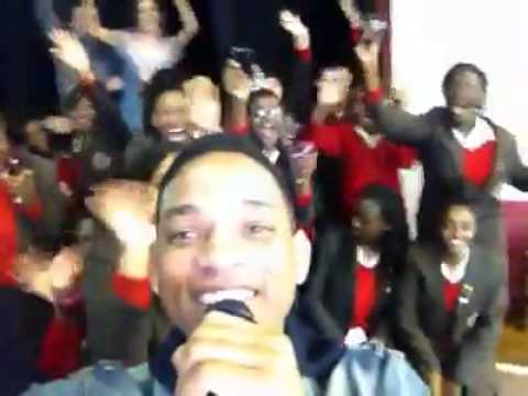 Will Smith At St Martins School In Brixton