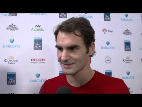 London Finale 2014 Thursday Interview Federer