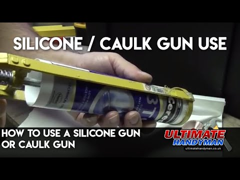 how to use a silicone gun or caulk gun