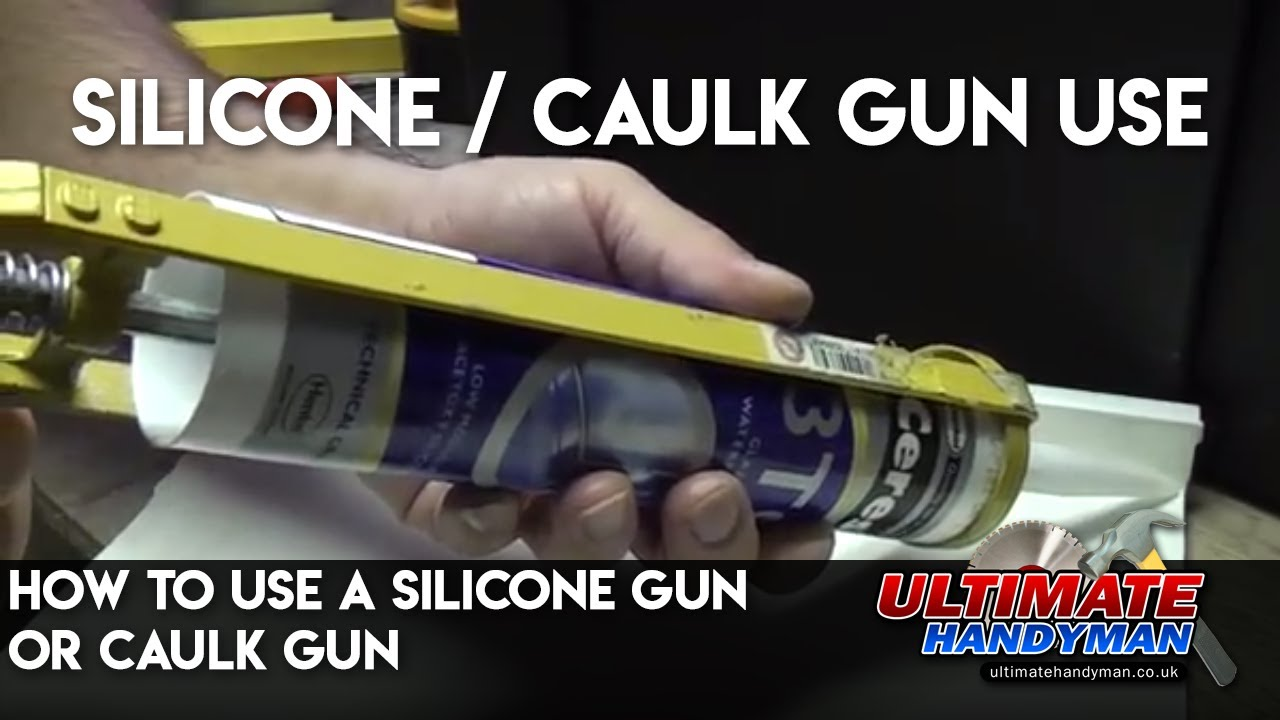 how to use a silicone gun or caulk gun youtube. Black Bedroom Furniture Sets. Home Design Ideas