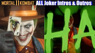 MK11 All Joker Intros & Victory Poses (Complete) - Mortal Kombat 11