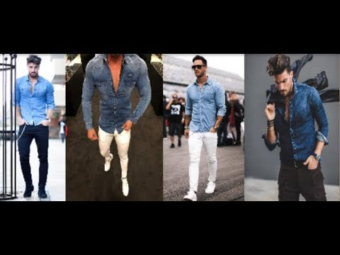 Latest Men's Jeans Shirt With Pant Style 2018 | Many Kind Of Man's Jeans Shirt Fashion 2018 | PBL