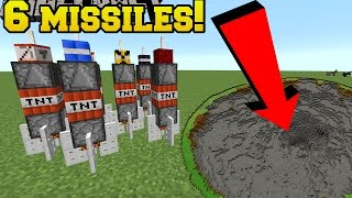 Minecraft: 6 MISSILES THAT WILL DESTORY YOUR WORLD!!! - Custom Command