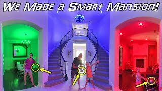 We Turned Our Home Into a Smart House Mansion!!!