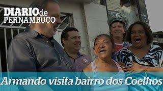 Armando Monteiro visita moradores do bairro dos Coelhos