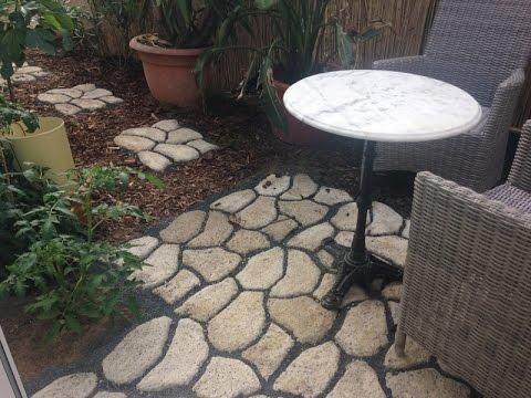 DIY - Gartenweg Oder Terrasse Mit Gießformen Selbst Anlegen