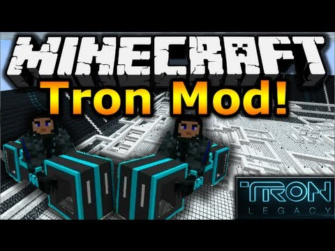 Minecraft 1.7.10 Tron Mod Showcase - Tron Bikes. Boards. Armour