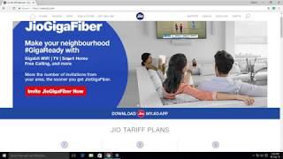 jio gigafiber registration Gigabit WiFi Smart Home Free calling and more   Vikram sharma ji