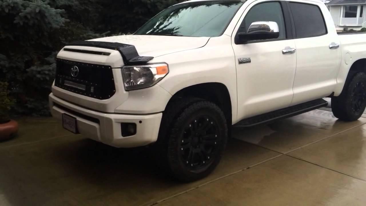 "2014 Toyota Tundra Platinum 2.5"" Lift - YouTube"