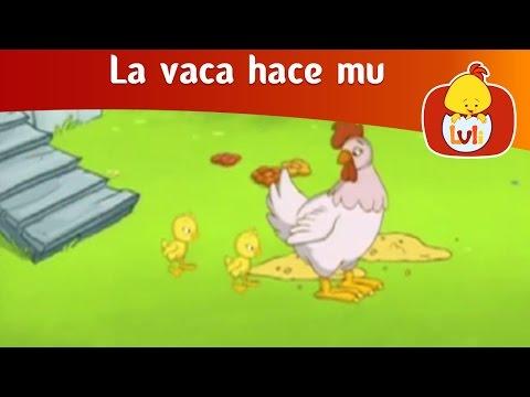 La vaca hace mu El gallo para niños