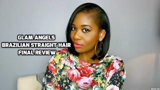 GLAM ANGELS Final Hair Review | Brazilian Straight Hair