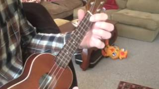 Ukulele Chords & Strumming for 'Raindrops keep falling on my head'