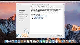 Install MySQL and Set MySQL root user password on Mac OS X
