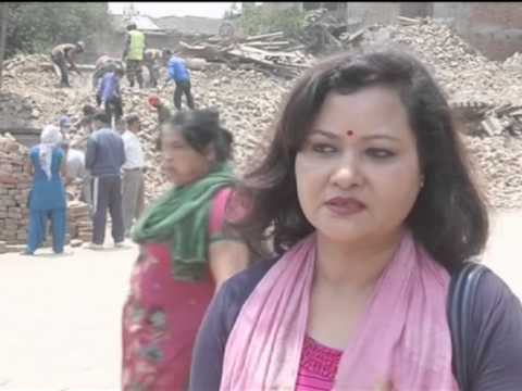 Nepali residents and troops sift through earthquake rubble to save ancient monuments