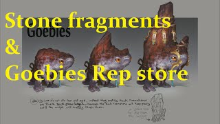 Stone Fragments and Goebies Reputation stores.