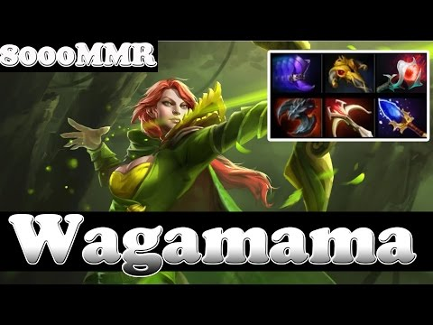 Wagamama 8000 MMR Plays Windrunner Vol 2 - Ranked Gameplay! Dota 2