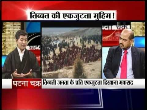 Dr.Lobsang Sangay with Dilip Singh in Ghatnachakra on Jain TV 30-1-2013