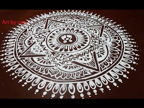 jhoti chita art- floor art- rangoli art -Easy Alpana Design-Free Hand Kolam Design Muggulu