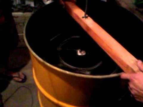 centrifuga casera para extraer miel  de 4 marcos