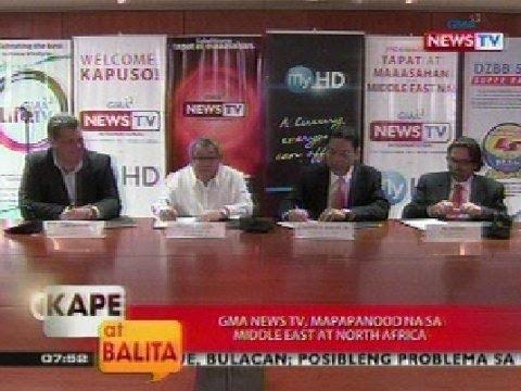 KB: GMA News TV, mapapanood na sa Middle East at North Africa