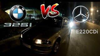BMW 325i E46 MT5 Stock vs Mercedes W210 2.2Cdi MT6 Stock