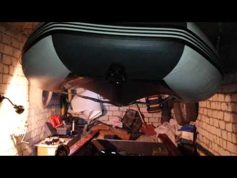 как подвесить лодку пвх на потолок в гараже