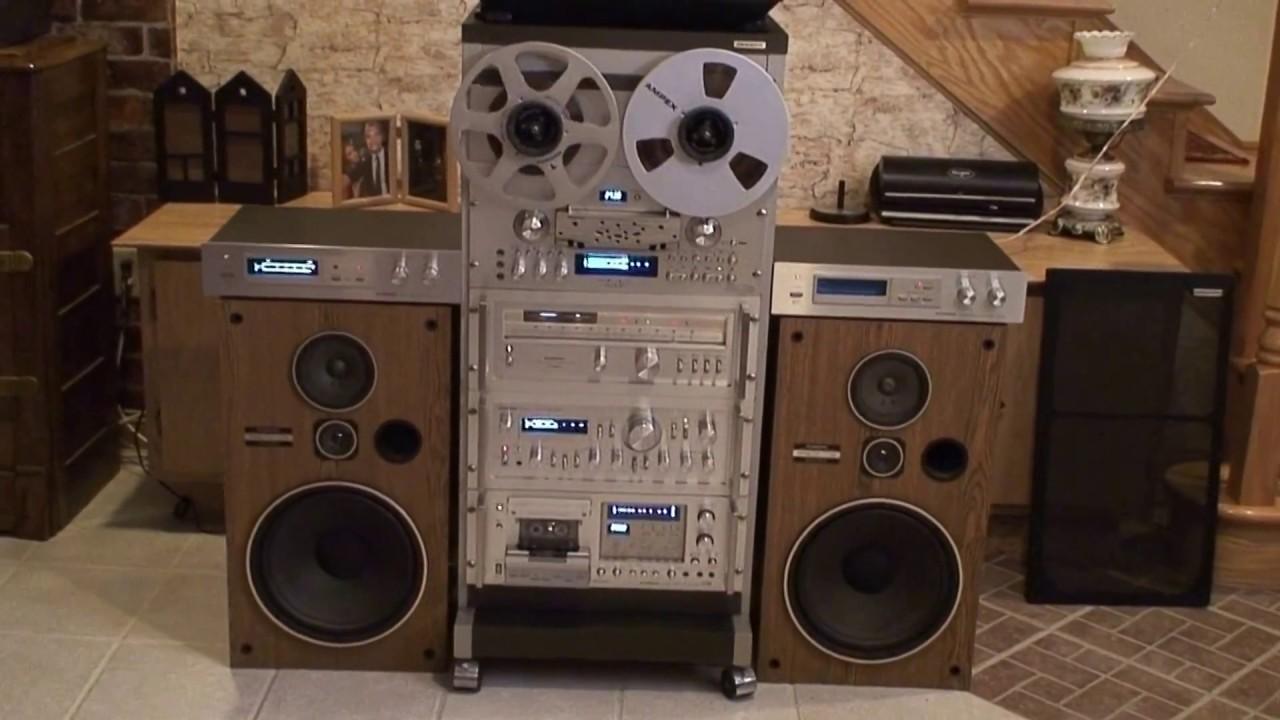 Pioneer Vintage Stereo System Amp Rack Youtube