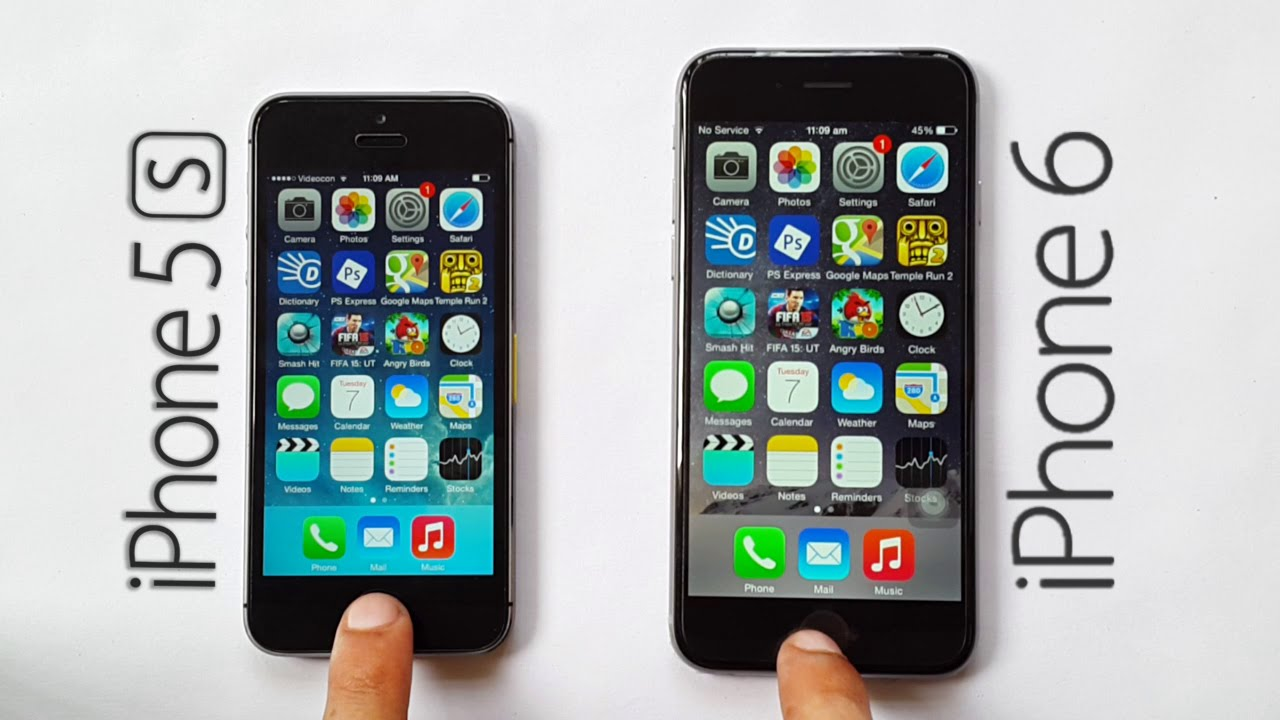 iphone 5 vs iphone 5s speed test interface