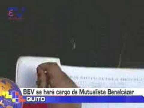 BEV se hará cargo de Mutualista Benalcázar