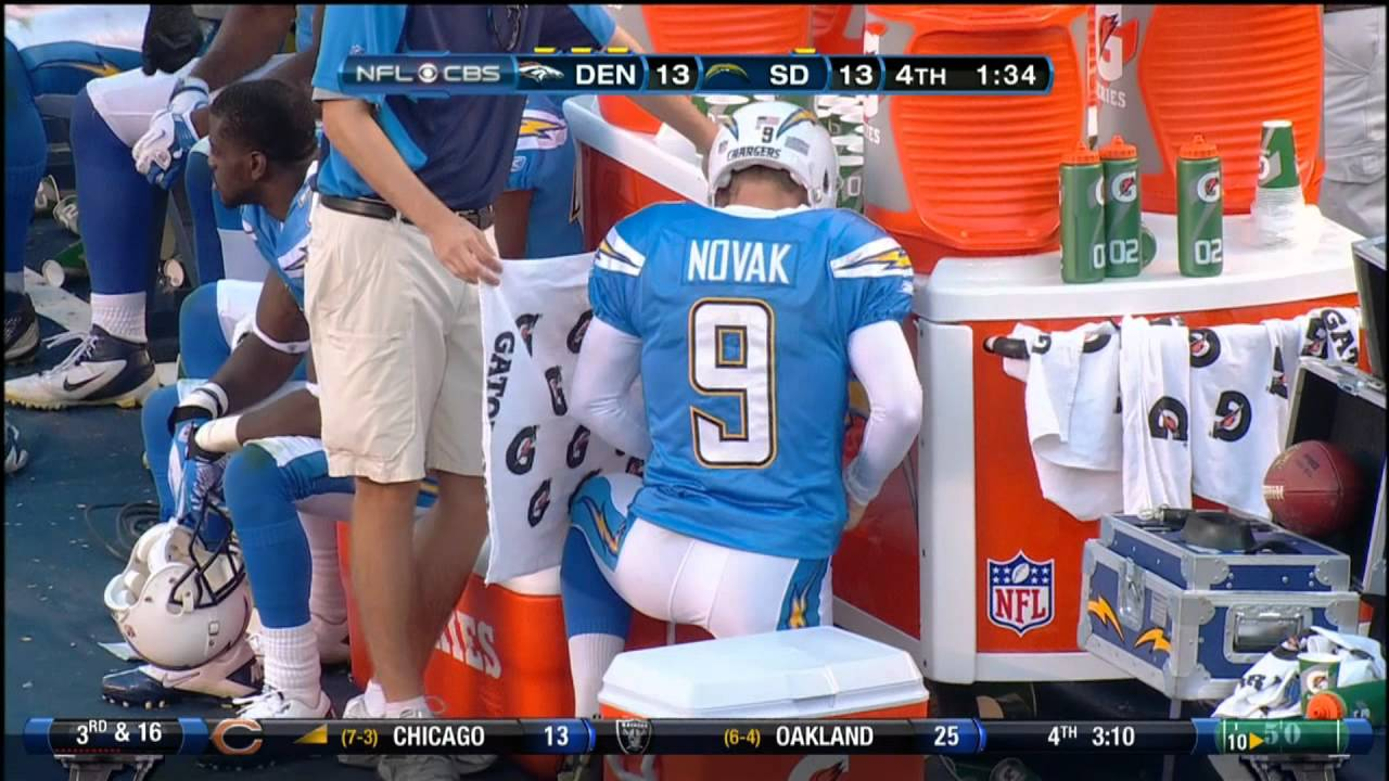 Nick Novak Peeing On The Sideline During Game Real Hd