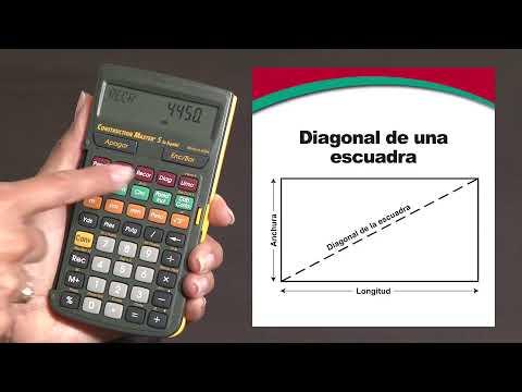 Construction Master 5 en Español -- Calcula la escuadra con las teclas de ángulos rectos