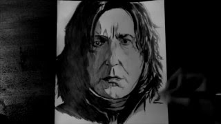SPEED DRAWING #13 - Tribute to Alan Rickman (Severus Snape here) dead on the 14/01/2016