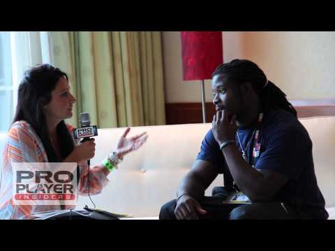 Eddie Lacy, Green Bay Packers and Alabama Alumni at NFLPA Rookie Premiere 2013