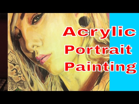How I Paint a Portrait in Acrylic