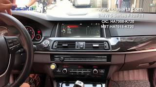 BMW 5 Series F10 F11 android head-unit full installations