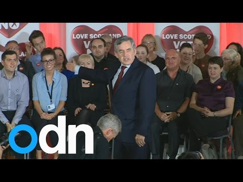 Gordon Brown at No rally: 'We fought two world wars together'