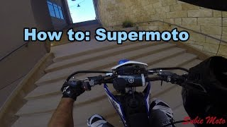 Supermotos in the city! Cool rent a cops