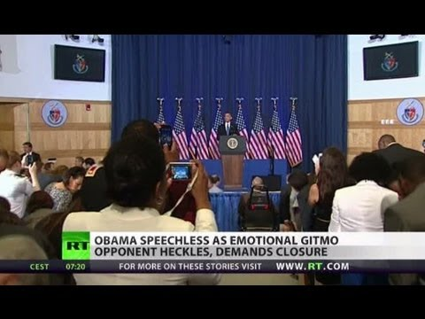 Obama speechless as Code Pink founder heckles over Gitmo