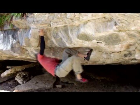 Rock Climbing - Bouldering a V7 and V8 at Kingdom of Ging on the Greenbelt in Austin, TX