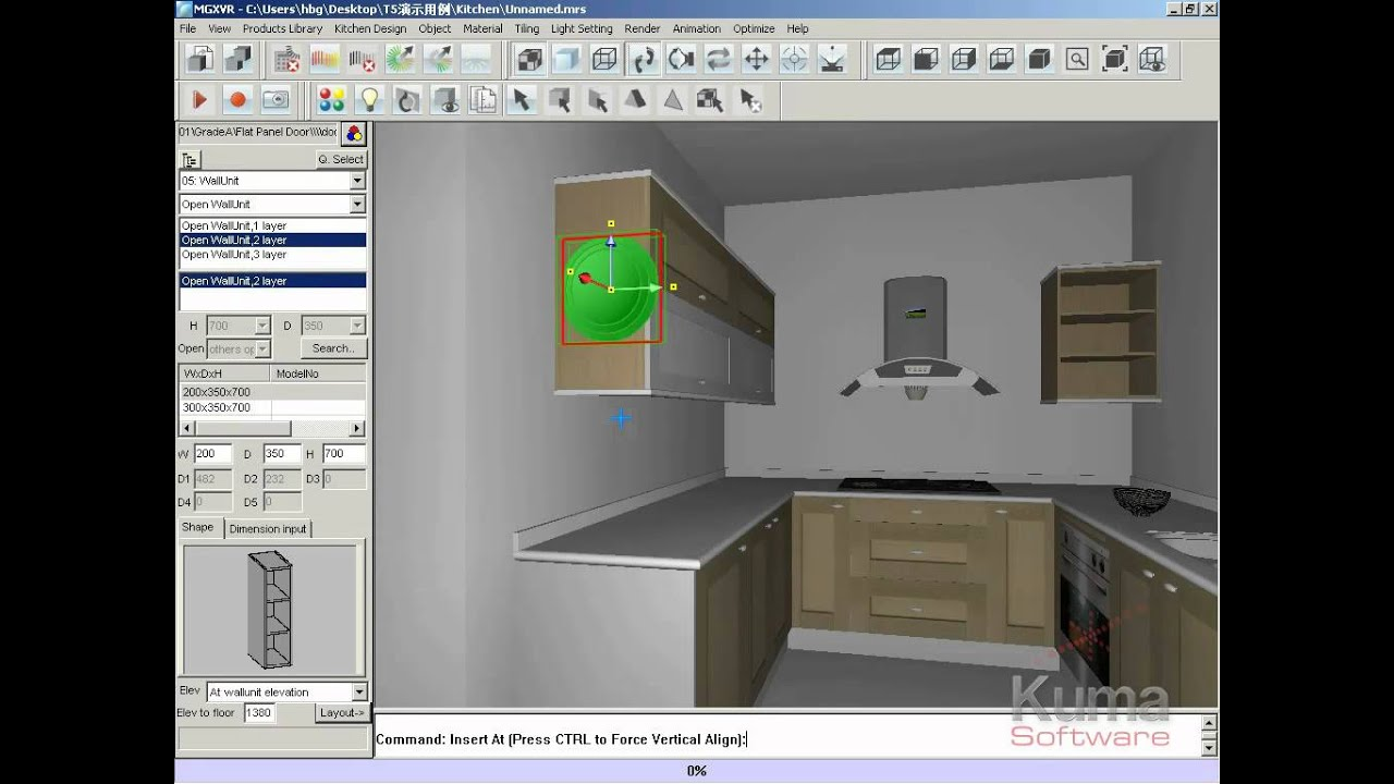 Dise o de cocinas con el software intericad t5 youtube for Diseno de muebles 3d