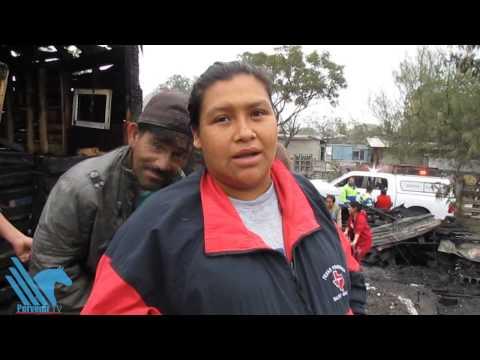 Se incendian tejabanes en Santa Catarina