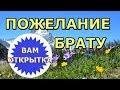 Пожелание брату C Днём рождения Видео поздравление св стихах mp3