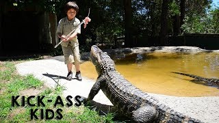 The 8 Year Old Gator Wrangler | KICK-ASS KIDS